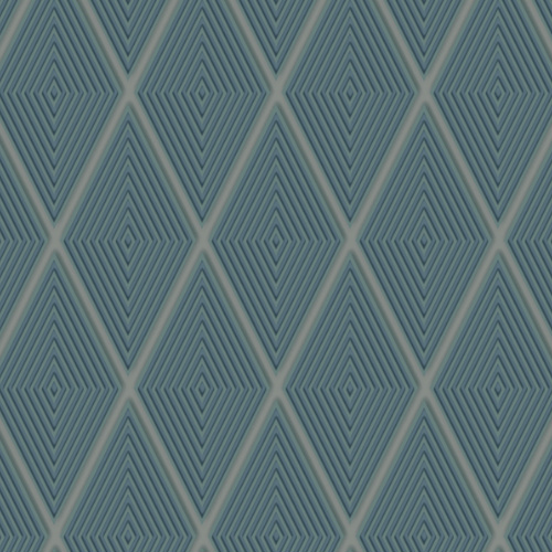 DI4762 York Wallcovering Dimensional Artistry Conduit Diamond Wallpaper Blue