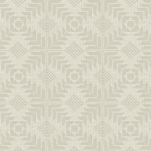 VA1201 York Wallcovering Aviva Stanoff Signature Collection Tribe Wallpaper Beige
