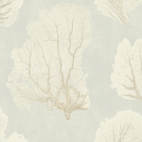 VA1208 York Wallcovering Aviva Stanoff Signature Collection Coral Couture Wallpaper Tan