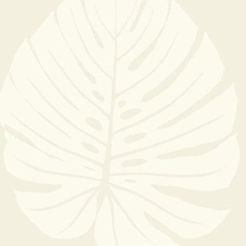 VA1232 York Wallcovering Aviva Stanoff Signature Collection Bali Leaf Wallpaper Cream