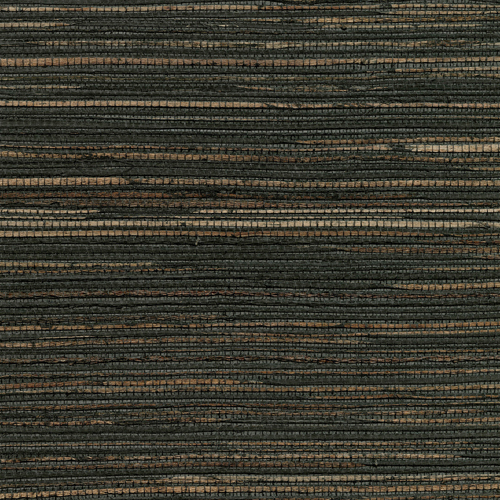 2732-80081 Brewster Wallcovering Kenneth James Canton Road Grasscloth Shandong Raime Grasscloth Wallpaper Charcoal