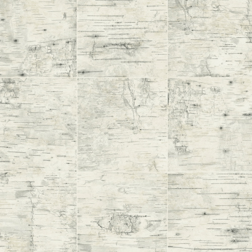 3118-12641 Brewster Wallcovering Cheseapeake Birch and Sparrow Champlain Grid Wood Wallpaper Cream
