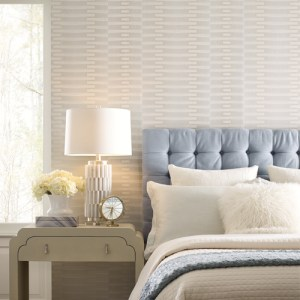 OL2741 York Wallcovering Candice Olson Journey Sequence Wallpaper Cream Room Setting