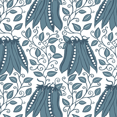 2821-25118 Brewster Wallcovering A Street Prints Folklore Peas in a Pod Garden Wallpaper Teal