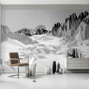 8-208 Brewster Wallcovering Komar Icefields Wall Mural Room Setting