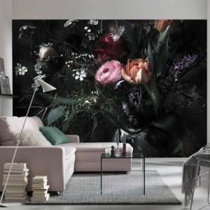 8-999 Brewster Wallcovering Komar Stories Still Life Wall Mural Room Setting