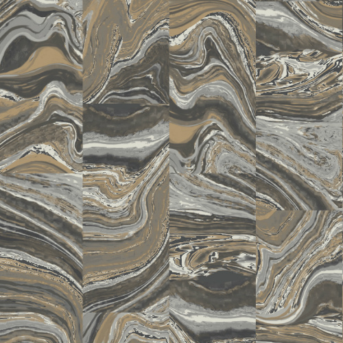 G67975 Norwall Patton Wallcovering Organic Textures Agate Tile Wallpaper Lavish Gold