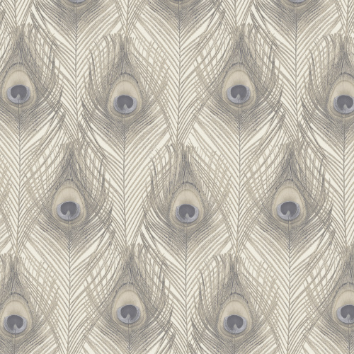 G67979 Norwall Patton Wallcovering Organic Textures Peacock Wallpaper Cream