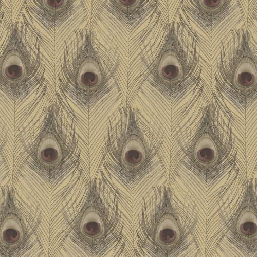 G67980 Norwall Patton Wallcovering Organic Textures Peacock Wallpaper Gold