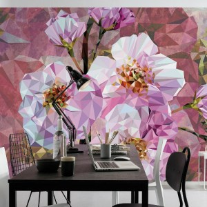 XXL4-064 Brewster Wallcovering Komar Stories Blooming Gems Wall Mural Room Setting