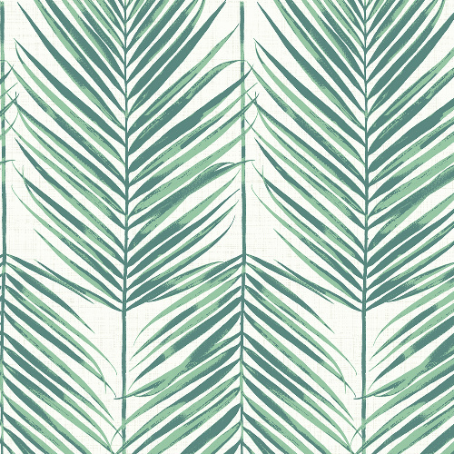 MB30014 Seabrook Wallcovering Beach House Paradise Palm Wallpaper Tropic Green
