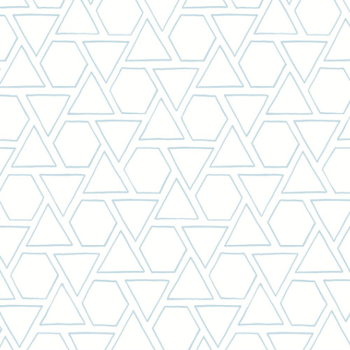 MB30102 Seabrook Wallcovering Beach House Sun Shapes Wallpaper Blue Oasis