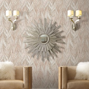 Y6230805 York Wallcovering Antonina Vella Natural Opalescence Ebru Marble Wallpaper Sienna Room Setting