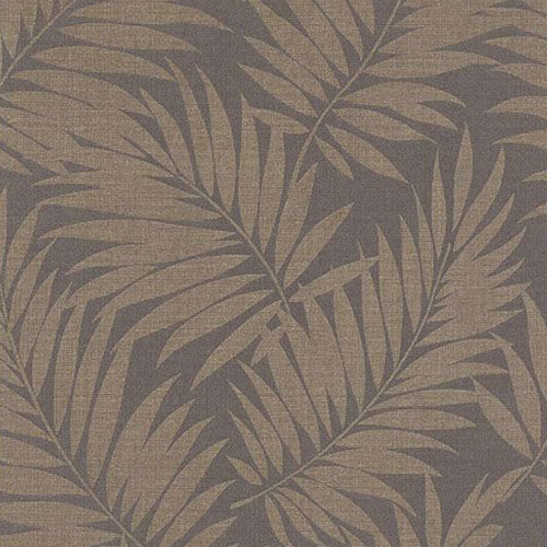 2814-527575 Brewster Wallcovering Advantage Bath Edomina Palm Wallpaper Dark Brown
