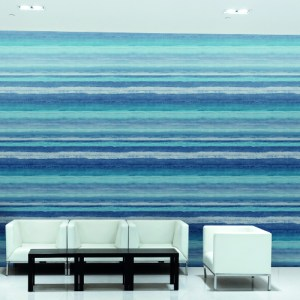 TL6135N York Wallcovering Design Digest Tempra Wallpaper Blue Room Setting