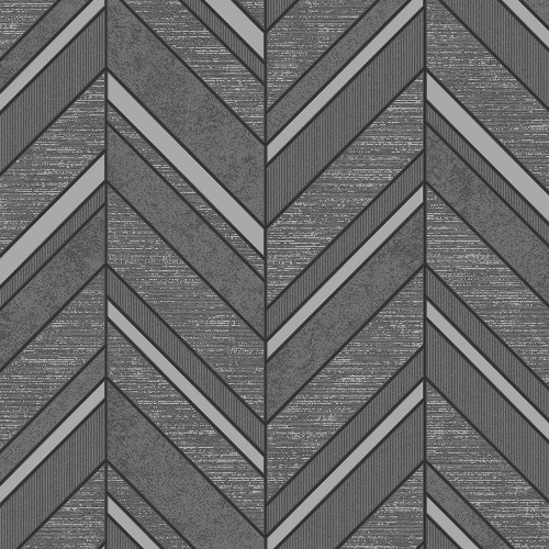 2835-42418 Brewster Wallcovering Advantage Deluxe Punta Mita Chevron Wallpaper Charcoal