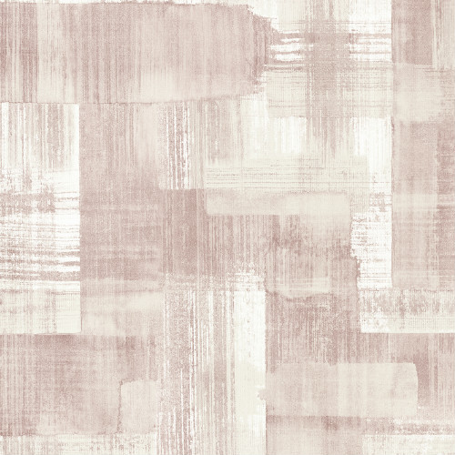 2889-25228 Brewster Wallcovering A Street Prints Terence Conran Plain Simple Useful Trosa Brushstroke Wallpaper Light Pink