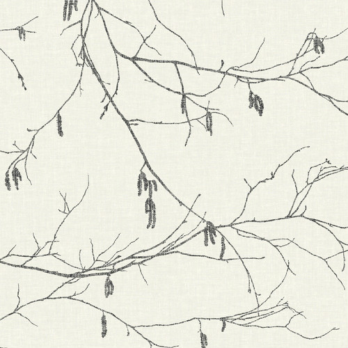 NR1524 York Wallcovering Norlander Winter Branches Wallpaper Off-White