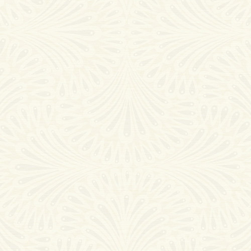 CA1503 York Wallcovering Antonina Vella Deco Cabaret Wallpaper White