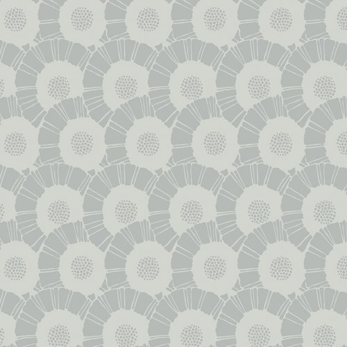 CA1558 York Wallcovering Antonina Vella Deco Coco Bloom Wallpaper Silver