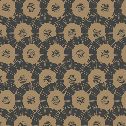 CA1559 York Wallcovering Antonina Vella Deco Coco Bloom Wallpaper Black