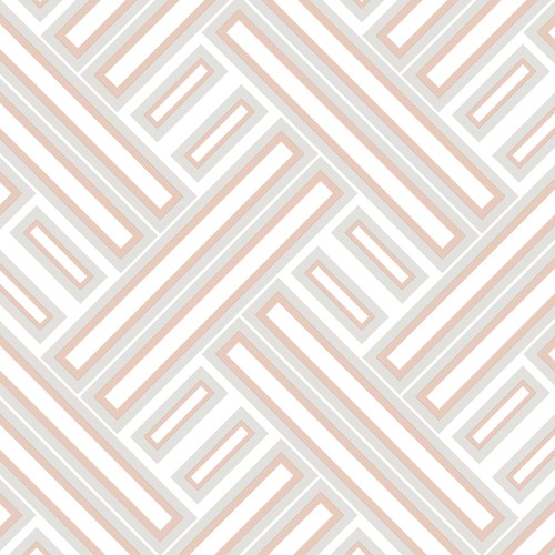 GX37600 Patton Wallcovering Norwall GeometriX Rectangles Wallpaper Rose Gold