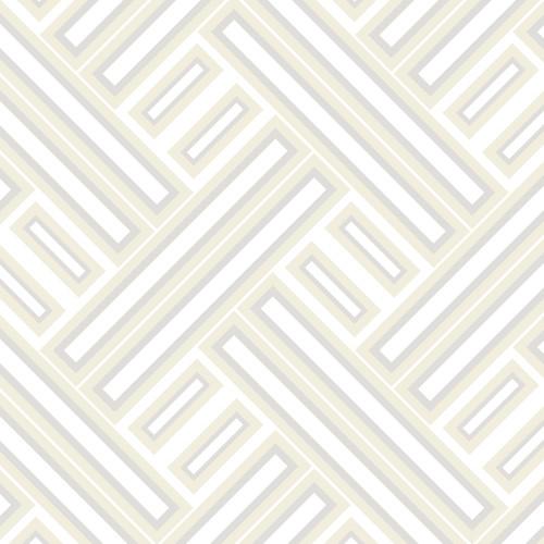 GX37604 Patton Wallcovering Norwall GeometriX Rectangles Wallpaper Gold