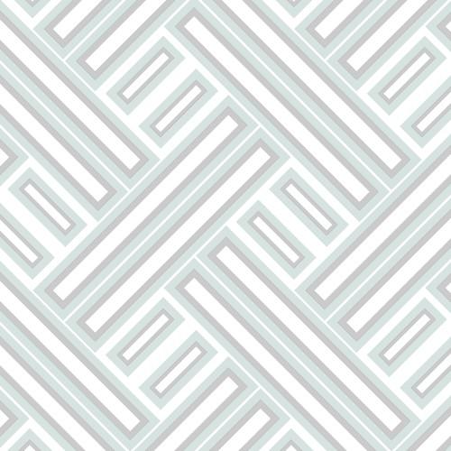 GX37605 Patton Wallcovering Norwall GeometriX Rectangles Wallpaper Mint