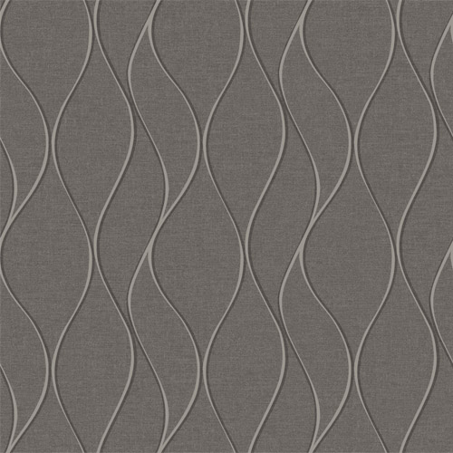 RMK11294WP York Wallcovering RoomMates Wave Ogee Peel and Stick Wallpaper Grey