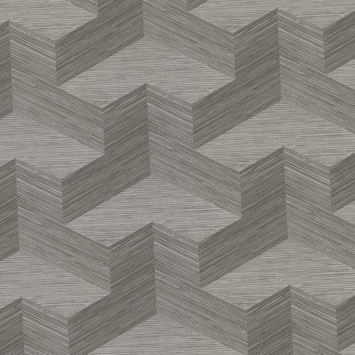 2829-82067 Brewster Wallcovering A Street Prints Fibers Y Knot Geometric Texture Wallpaper Grey