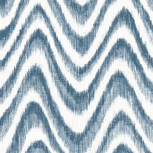 2901-25408 Brewster Wallcovering A Street Prints Perennial Bargello Faux Grasscloth Wave Wallpaper Blue