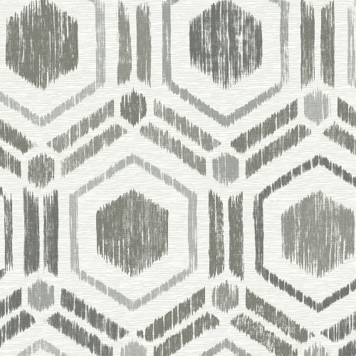 2901-25432 Brewster Wallcovering A Street Prints Perennial Borneo Geometric Grasscloth Wallpaper Taupe