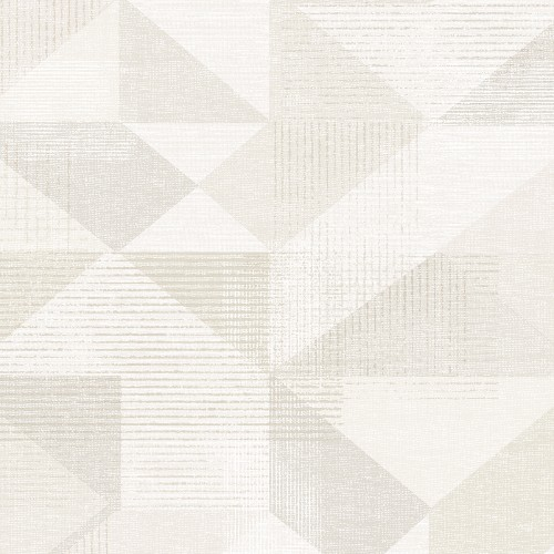 GX37653 Patton Wallcovering Norwall GeometriX Silk Screen Geometric Wallpaper Beige