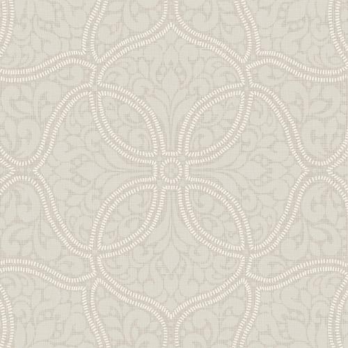 2010707 Seabrook Wallcovering Etten Gallerie Aura Embroidered Filigree Trellis Wallpaper Grey