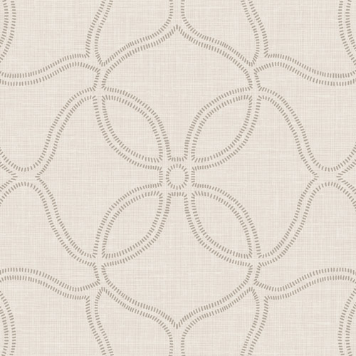 2011506 Seabrook Wallcovering Etten Gallerie Aura Embroidered Trellis Wallpaper Taupe