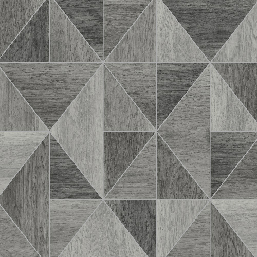 2836-24963 Brewster Wallcovering Advantage Shades of Grey Corin Wood Geometric Wallpaper Grey