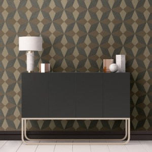 2908-25303 Brewster Wallcovering A Street Prints Alchemy Valiant Faux Grasscloth Geoemtric Wallpaper Multi-color Room Setting
