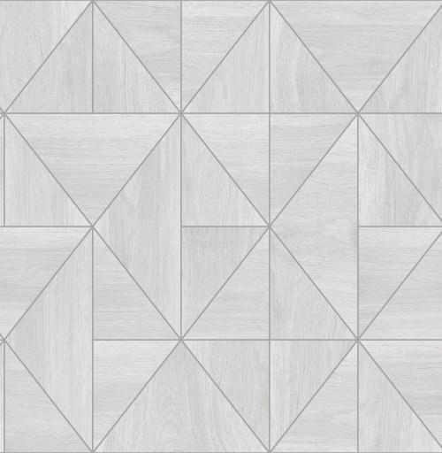 2908-25320 Brewster Wallcovering A Street Prints Alchemy Cheverny Geometric Wood Wallpaper Light Grey