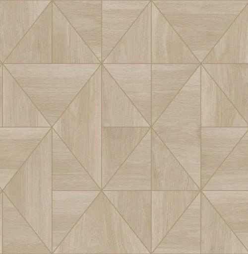 2908-25323 Brewster Wallcovering A Street Prints Alchemy Cheverny Geometric Wood Wallpaper Beige