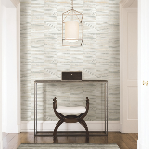 2908-87121 Brewster Wallcovering A Street Prints Alchemy Lithos Geometric Marble Wallpaper Grey Room Setting
