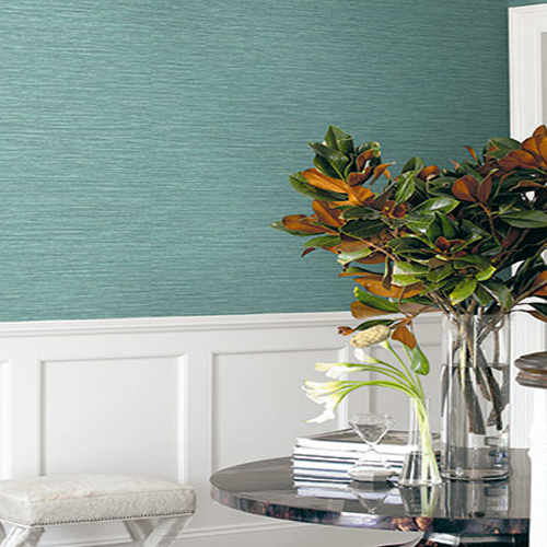 BV30114 Seabrook Wallcovering Texture Gallery Grasslands Wallpaper Blue Stem Room Setting