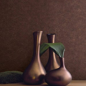 BV30601 Seabrook Wallcovering Texture Gallery Roma Leather Wallpaper Rawhide Room Setting