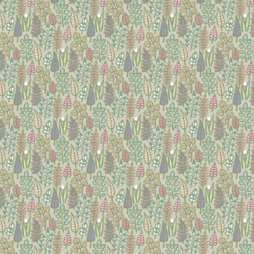 SP1411 York Wallcoverings Small Prints Leaf Life Wallpaper Taupe