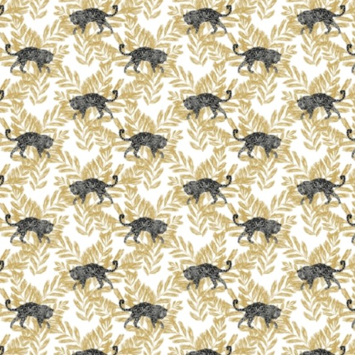 SP1449 York Wallcovering Small Prints On The Prowl Wallpaper Gold