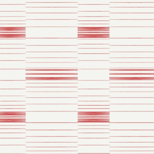 SR1577 York Wallcovering Stripes Resource Library Dashing Stripe Wallpaper Red Coral White
