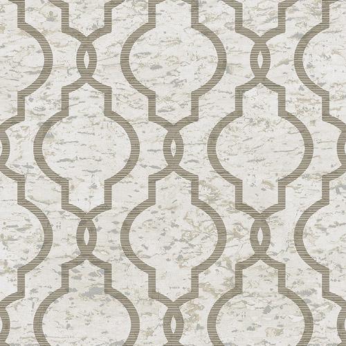 UK20930 Seabrook Wallcovering Pear Tree Studios Shimmer Faux Cork Trellis Wallpaper Beige