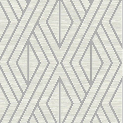 UK30509 Seabrook Wallcovering Pear Tree Studio Shimmer Abstract Diamond Wallpaper Silver
