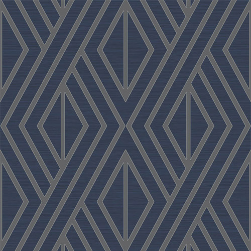UK30522 Seabrook Wallcovering Pear Tree Studio Shimmer Abstract Diamond Wallpaper Blue