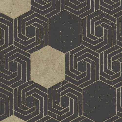 2902-25548 Brewster Wallcovering A Street Prints Theory Momentum Geometric Wallpaper Dark Brown