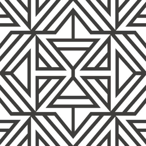 2902-25553 Brewster Wallcovering A Street Prints Theory Helios Geometric Wallpaper Black
